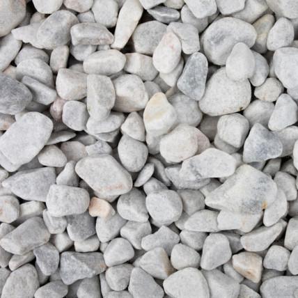 Marmura rotunjita alba, 15-25 mm, 25 Kg